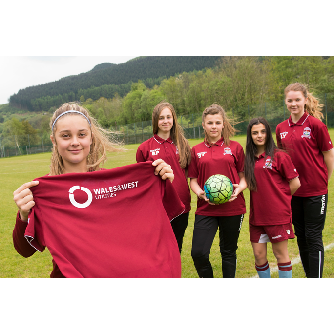 new arrival 71135 fce89 Wales & West Utilities kits out young women's football team