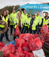 Volunteers out in force for Burry Port litter pick
